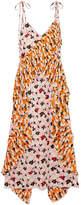 Kenzo Ruffled Floral-print Crepe Midi Dress - Pink