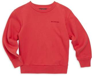 Balenciaga Little Kid's & Kid's Molleton Crewneck Sweatshirt