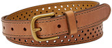 Fossil Dotted Perforated Belt