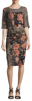 Tracy Reese Silk Printed Midi Dress