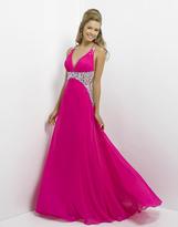 Blush Lingerie Sleeveless V-Neck Pleated Long Dress 9708
