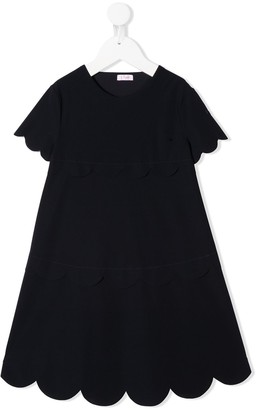 Il Gufo A-line scalloped hem dress