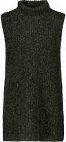 Alexander Wang Marled cotton-blend turtleneck sweater