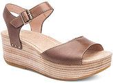 Dansko Silvie Burnished Leather Banded Ankle Strap Platform Sandals