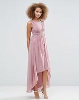 Little Mistress Dipped Hem Maxi Dress