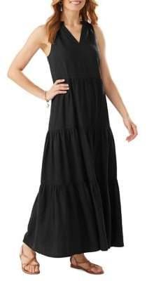 Tommy Bahama Lena Tiered Linen-Blend Maxi Dress