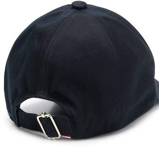 Thom Browne classic embroidered baseball cap navy