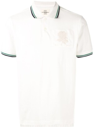 Kent & Curwen Embroidered Rose Patch Polo Shirt
