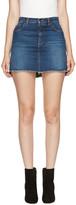 Saint Laurent Blue Asymmetric Denim je Taime Miniskirt