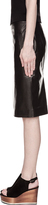 Givenchy Black Glossy Coated Leather Skirt