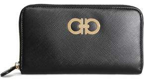 Salvatore Ferragamo Embellished Textured-leather Continental Wallet