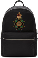 Dolce & Gabbana Black Crown Crest Backpack