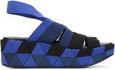 Salvatore Ferragamo strappy platform sandals - women - Leather/Polyester/rubber - 6.5