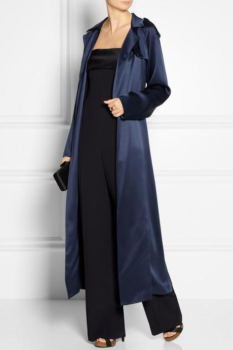 ADAM by Adam Lippes Silk-satin trench coat