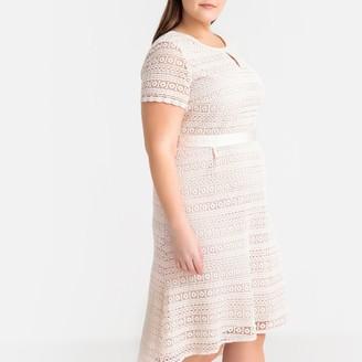 Castaluna Plus Size Guipure Lace Midi Dress