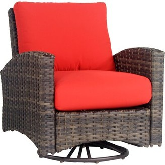 Bloomsbury Market Allerone Patio Chair with Cushion Color: Sand