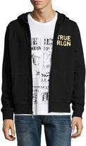 True Religion Drippy Horseshoe Zip-Up Hoodie, Black