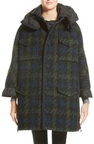 Moncler Women's Euphrasie Wool Blend Houndstooth Coat