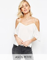 Asos V Neck Cropped Cold Shoulder Cami Top