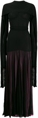 J.W.Anderson belted scarf maxi dress