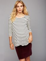 A Pea in the Pod Ripe Under Belly 1 Button Closure Maternity Skirt
