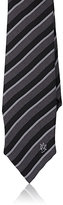 Alexander McQueen Men's Striped Silk Foulard Necktie