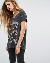 Religion Oversized T-Shirt With Print And Embellishment Details