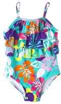 Circo Infant Toddler Girls' Floral 1-Piece Swimsuit