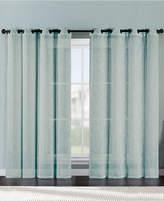Victoria Classics Ritz Metallic Printed Faux Linen 54'' x 84'' Curtain Panel