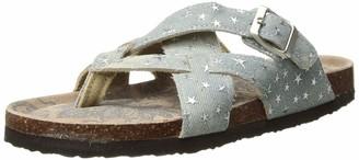 Muk Luks Women's Shayna Terra Turf-Grey Sandal 6 M US