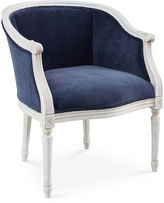 Sarreid Ltd. Ardus Accent Chair, Navy Velvet