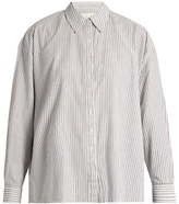 The Great The Slouchy striped cotton shirt