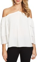 1 STATE 1.state Tiered Cold-Shoulder Blouse