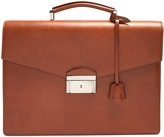 Brioni Abraham leather briefcase