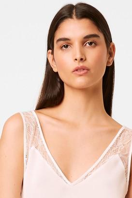 French Connection Crepe Light Lace Trim Vest