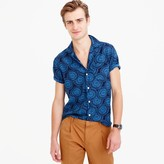 J.Crew Wallace & Barnes short-sleeve camp-collar shirt in silk-linen
