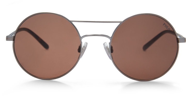 Ralph Lauren Double-Bridge Round Sunglasses