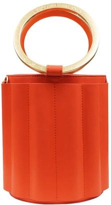 Water Metal Handle Small Bucket Bag - Orange