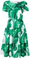 Dolce & Gabbana Palm Print Cotton Dress
