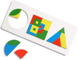 Mudpuppy Frank Lloyd Wright Geometric Shapes 10-Piece Wooden Tray Puzzle