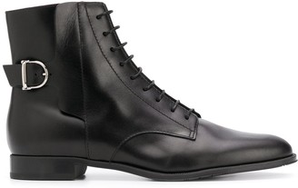 Tod's Leather Lace-Up Ankle Boots
