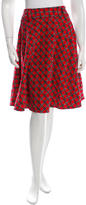Dolce & Gabbana Buckle-Printed Knee-Length Skirt