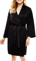 Ambrielle Long-Sleeve Satin Robe