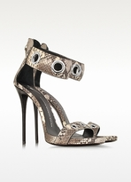 Giuseppe Zanotti Python Grommet Ankle-Strap Sandals