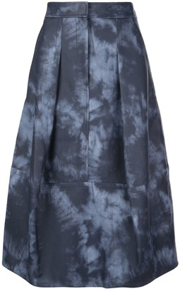 Tibi Tie Dye Sculpted Skirt