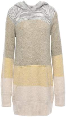 Missoni Color-block Intarsia-knit Hooded Sweater