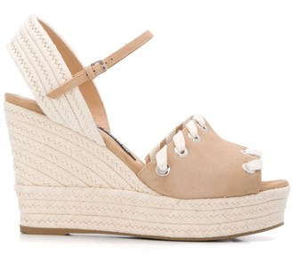Sergio Rossi High Wedge Sandals