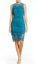 Mystic Crochet Trim Lace Sheath Dress