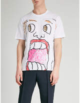 Marni Sketch Face-print Cotton-jersey T-shirt