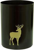 Black & Gold Deer Wastebasket